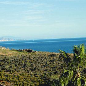 Blick aufs Meer und Torre del Mar